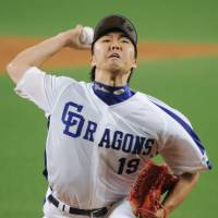 Big series: Dragons hurler Kazuki Yoshima faces the Giants in the opener of a pivotal series on Friday at Nagoya Dome. The teams settled for a 4-4 tie. | KYODO