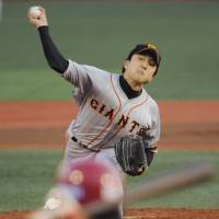 Stepping up: Rookie pitcher Hirokazu Sawamura could be a key player for the Yomiuri Giants against the Tokyo Yakult Swallows in the Central League Climax Series starting Saturday. | KYODO
