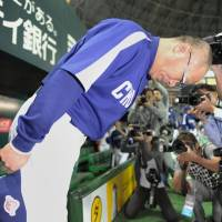 New challenges await: Hiromitsu Ochiai's time in the Chunichi dugout came to an end after his team's loss in Game 7 of last week's Japan Series. | KYODO PHOTO