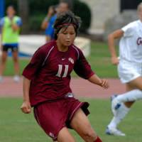 Florida State's Mami Yamaguchi, a native of Tokyo, was awarded the Hermann Trophy as the NCAA Division I female college player of the year on Friday in St. Louis. | LARRY NOVEY PHOTO/MISSOURI ATHLETIC CLUB PHOTO (above)