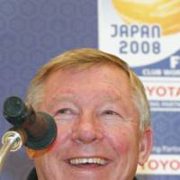 Red alert: Manchester United manager Alex Ferguson speaks to reporters in Yokohama on Tuesday. United plays Gamba Osaka in the Club World Cup semifinal on Thursday. | KYODO PHOTO