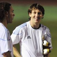 Man on a mission: Lionel Messi is out to prove the doubters wrong when Argentina faces Japan on Friday.   KYODO PHOTO