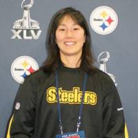 Enjoyable experience: Pittsburgh Steelers trainer Ariko Iso is attending her third Super Bowl with the NFL club. | KAZ NAGATSUKA PHOTO