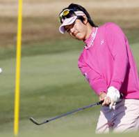Teenage phenom: Ryo Ishikawa makes the cut in the second round of the Casio World Open at Kochi Kuroshio Country Club in Geisei, Kochi Pref., on Friday. | KYODO PHOTO