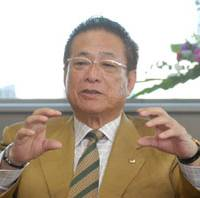 Man in charge: Japan Football Association President Motoaki Inukai speaks during an interview at JFA House on Oct. 16. | YOSHIAKI MIURA PHOTO