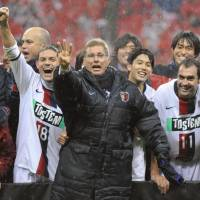 Best ever?: There may not be a finer side in J. League history than Oswaldo Oliveira's Kashima Antlers, who just wrapped up an unprecedented third straight league title. | KYODO PHOTO