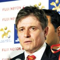 Tough challenge: Nagoya Grampus manager Dragan Stojkovic says the long layoff in recent weeks has been tough for his team and the rest of the J. League. | YOSHIAKI MIURA PHOTO