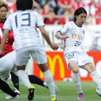 Pegged back: Daigo Nishi and Kashima Antlers have not enjoyed a happy start to the J. League season. | KYODO