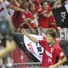 Haraguchi matches Usami with late goal to help Reds salvage point