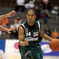 Saitama Broncos point guard Aaron Sakai Lawrence, a former University of Alaska-Anchorage player, earned a spot on the team after attending three bj-league tryouts and signing a free-agent contract. | SAITAMA BRONCOS PHOTO