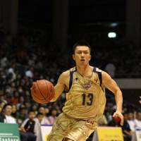 Call to duty: Ryukyu Golden Kings guard Yosuke Sugawara has been an able replacement for injured teammate Shigeyuki Kinjo this season. | RYUKYU GOLDEN KINGS / bj-league
