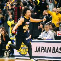 Championship quest: Link Tochigi Brex point guard Yuta Tabuse and his teammates have advanced to the JBL Finals for the first time. | KYODO PHOTO