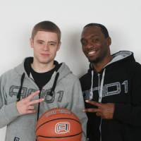 Spread the word: Grayson Boucher, left, and Alonzo Miles want to use streetball to inspire people. | KAZ NAGATSUKA