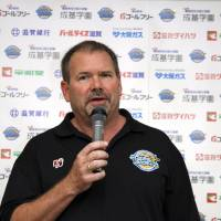 New chapter: After a long career in Australia, Alan Westover brings his vast experience to lead the Shiga Lakestars this season. | SHIGA LAKESTARS/BJ-LEAGUE