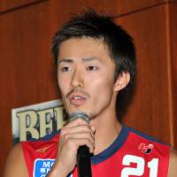Bull rush: Forward Hayato Kantake is hoping to make an impact in the Iwate Big Bulls' debut bj-league season. | YOSHIAKI MIURA