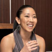 Thinking big: Saitama Broncos coach Natalie Nakase speaks at a recent meeting of the Foreign Sportswriters Association of Japan in Tokyo. | YOSHIAKI MIURA