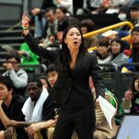 One and done: Natalie Nakase, seen here coaching the Eastern Conference squad in the 2012 All-Star Game, will not return as coach of the Saitama Broncos next season. | YOSHIAKI MIURA