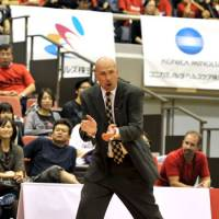 A change in leadership: Coach Eric Gardow won't return to the Chiba Jets for their second season. The expansion club went 18-34 in 2011-12. | YOSHIAKI MIURA