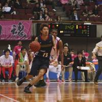 Reaping benefits: Yokohama B-Corsairs guard Satoshi Hisayama benefited from training at the United States Basketball Academy in Oregon in 2006. | KAZ NAGATSUKA