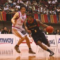 Key man: The Yokohama B-Corsairs will be counting on guard Draelon Burns again this season after finishing third in their inaugural campaign in 2011-12. | KAZ NAGATSUKA