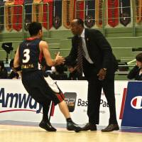 Impressive job: Reggie Geary, the bj-league's 2011-12 Coach of the Year, has guided the Yokohama B-Corsairs to back-to-back playoff berths in the franchise's first two seasons. The B-Corsairs defeated the visiting Hamamatsu Higashimikawa Phoenix 76-67 on Wednesday afternoon to complete a two-game sweep. | KAZ NAGATSUKA