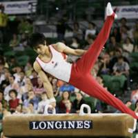 Talented athlete: Hiroyuki Tomita, the gold medalist on the pommel horse at the 2005 World Artistic Gymnastic Championships, is one of Japan's top returning gymnasts with Olympic experience. He made his Olympic debut in 2004 in Athens. | AP PHOTO