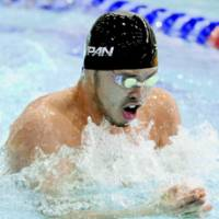 Golden touch: Kosuke Kitajima swam to victories in the 100- and 200-meter men's breaststroke races at the 2004 Summer Olympics. He's expected to contend for titles in both races in Beijing. | KYODO PHOTO