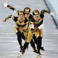 Germany denies Japan speedskating team gold