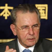 No limit: IOC president Jacques Rogge speaks at the Foreign Correspondents' Club of Japan on Thursday. | AP PHOTO
