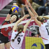 Germany outlasts Japan in World Grand Prix women's volleyball match