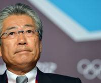 Blueprint: Tokyo 2020 Olympic Bid Committee president Tsunekazu Takeda attends a news conference in London on Saturday. | AFP-JIJI