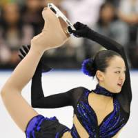 Shaky start: Mao Asada, who struggled at the Japan Open earlier this month, begins her Grand Prix season at the Trophee Eric Bompard in Paris on Friday. | KYODO PHOTO