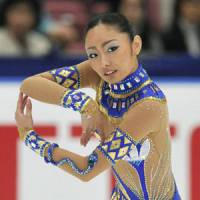 Nile style: Miki Ando performs en route to winning the NHK Trophy at Nagano's Big Hat on Saturday. | KYODO PHOTO