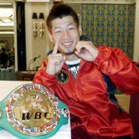 Looking ahead: WBC bantamweight champion Hozumi Hasegawa, winner of 10 straight title bouts, is interested in high-profile fights outside of Japan, even in higher weight classes. | KYODO PHOTO