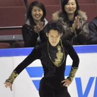 Swagger: Daisuke Takahashi has come back in a big way from career-threatening knee surgery in late 2008. | KYODO PHOTO