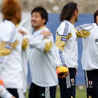 Out of favor: Shunsuke Nakamura (right) may have to make do with a place on the bench during Japan's World Cup campaign in South Africa. | AP PHOTO