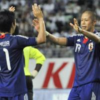 Facing the future: Shinji Kagawa and Takayuki Morimoto can expect to be at the forefront of Alberto Zaccheroni's national team. | KYODO PHOTO