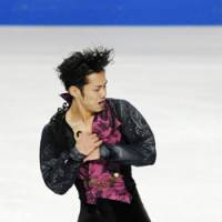 Daisuke Takashishi turns a Grand Prix-winning performance at Skate America in Portland, Org. | KYODO PHOTO