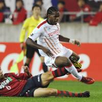 Heart of the matter: Colombian midfielder Danilson Cordoba has been a crucial component in Nagoya Grampus' title-winning side. | KYODO PHOTO