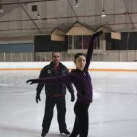 Tuning up: Olympic gold medalist Kim Yu Na works on one of her new programs under the watchful eye of choreographer David Wilson in Artesia, Calif. | ALL THAT SPORTS