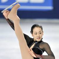 In a pinch: Two-time world champion Mao Asada will be under the gun this weekend at the Japan nationals as she bids for a spot on the team for the 2011 world championships. | KYODO PHOTO