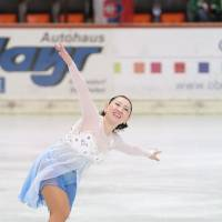 Still got it: Midori Ito skated competitively for the first time since 1996 when she took the ice at the adult world championships in Oberstdorf, Germany, last month. | YOSHIE NOGUCHI PHOTO