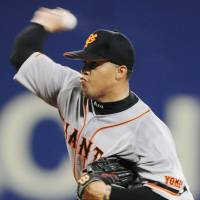 Tricky Dicky: Dicky Gonzalez is working his way back to form after a poor 2010 season with the Yomiuri Giants. | KYODO PHOTO