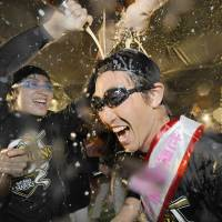 Hawks euphoric after triumph, focused on winning Japan Series title