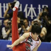 Uchimura earns second gold medal at worlds