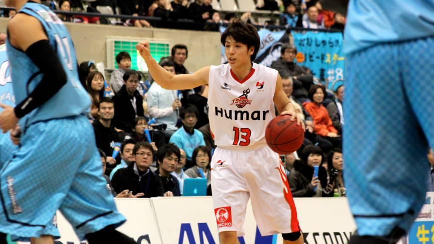 Room to grow: Osaka Evessa guard Takuya Hashimoto, who turns 19 in December, is benefiting from bench boss Bill Cartwright's decades of wisdom in the game.