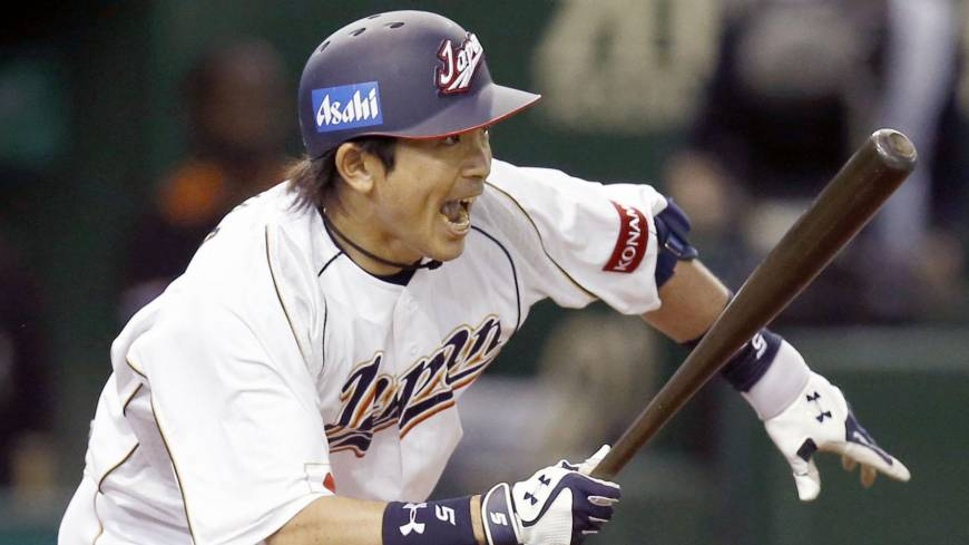 Offensive rhythm: Nobuhiro Matsuda played a big part in Japan's renewed swagger and run-scoring prowess during the WBC's games at Tokyo Dome.