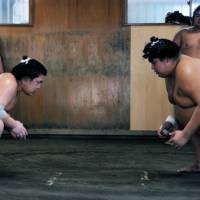 How to view sumo up close and in person: <em>asageiko</em>