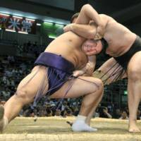 Hakuho hits stride