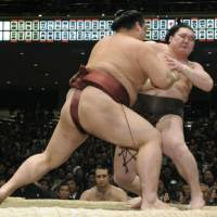 Hakuho succumbs to Kisenosato again